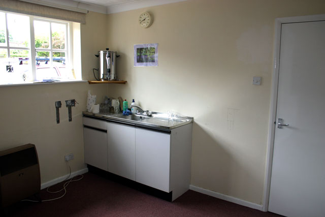 Vestry with old sink unit